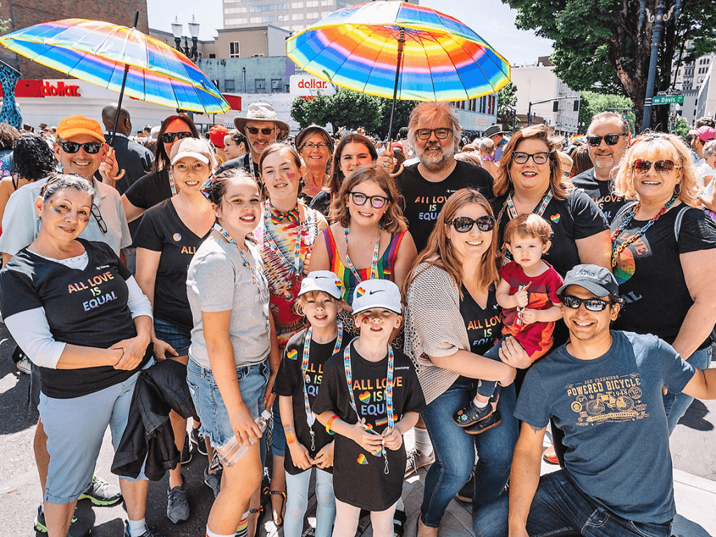 Photo of Dunn Carney at 2019 Gay Pride parade